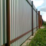 Наши работы - Забор из профлиста