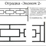 Оградка эконом 2