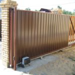 Откатные ворота в Твери